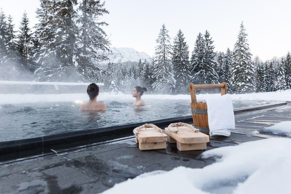 Onsen Pool Das Kranzbach Hotelfotografie Anneliese Kompatscher